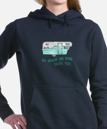 GO WHERE ROAD TAKES YOU Women's Hooded Sweatshirt