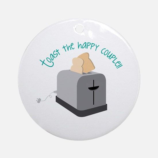 Toast the Couple Ornament (Round)