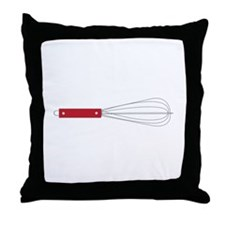 Red Whisk Throw Pillow