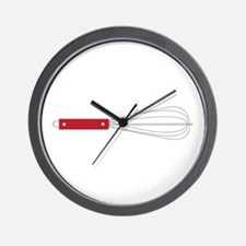 Red Whisk Wall Clock