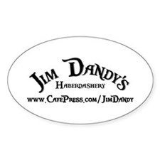 """Jim Dandy's Haberdashery"" Oval Decal"