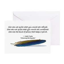 Mark Twain Parrot Card Greeting Cards