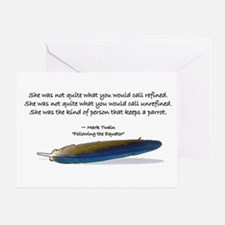 Mark Twain Parrot Card Greeting Cards