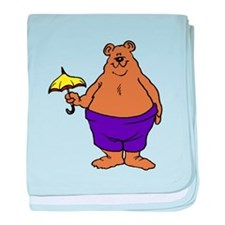 Bear With Small Umbrella baby blanket