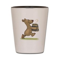 Bear With Soup Shot Glass