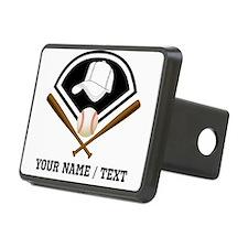 Custom Name/Text Baseball Gear Hitch Cover