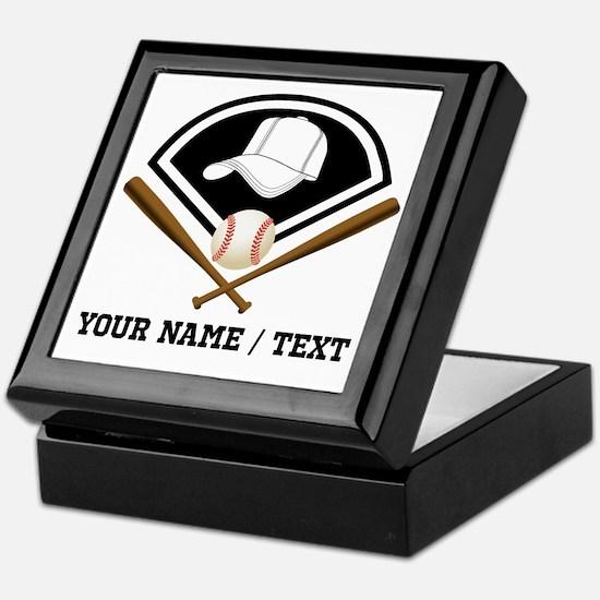 Custom Name/Text Baseball Gear Keepsake Box