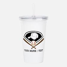 Custom Name/Text Baseball Gear Acrylic Double-wall