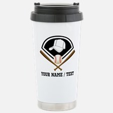 Custom Name/Text Baseball Gear Travel Mug