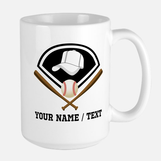 Custom Name/Text Baseball Gear Mugs