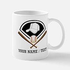 Custom Name/Text Baseball Gear Mugs
