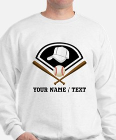 Custom Name/Text Baseball Gear Sweatshirt