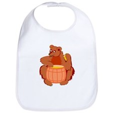 Bear With Honey Barrel Bib
