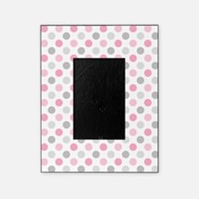 Pink Gray Polka Dots Picture Frame