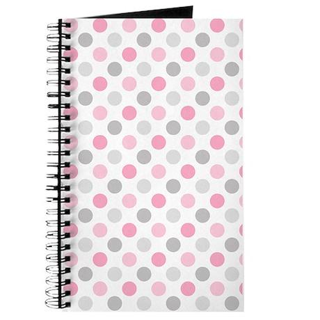 Pink Gray Polka Dots Journal