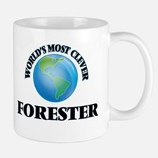 World's Most Clever Forester Mugs