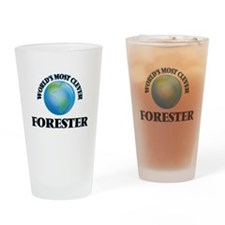 World's Most Clever Forester Drinking Glass