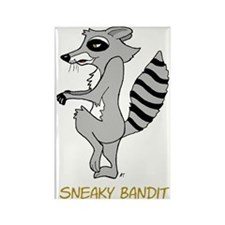 Sneaky Raccoon Rectangle Magnet (10 pack)
