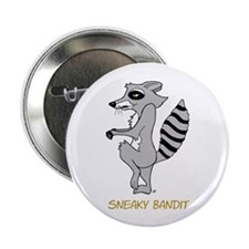 """Sneaky Raccoon 2.25"""" Button (10 pack)"""