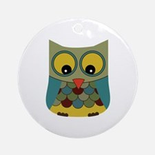 Colorful Owl Ornament (Round)