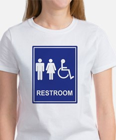 Unisex Handicap Restroom without T Tee