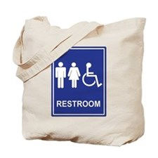 Unisex Handicap Restroom without Text Tote Bag