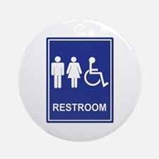 Unisex Handicap Restroom without Ornament (Round)