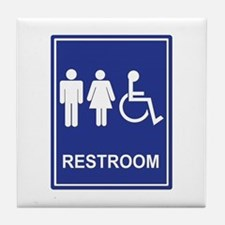 Unisex Handicap Restroom without Text Tile Coaster