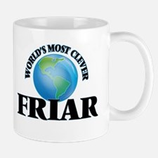 World's Most Clever Friar Mugs