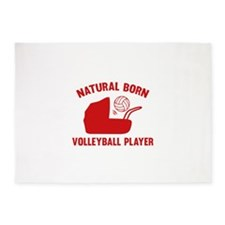 Natural Born Volleyball Player 5'x7'Area Rug