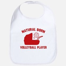 Natural Born Volleyball Player Bib