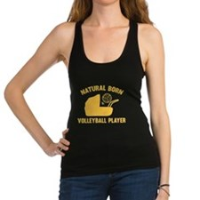 Natural Born Volleyball Player Racerback Tank Top