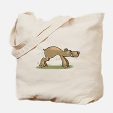 Bear Tiptoeing Tote Bag