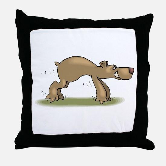 Bear Tiptoeing Throw Pillow
