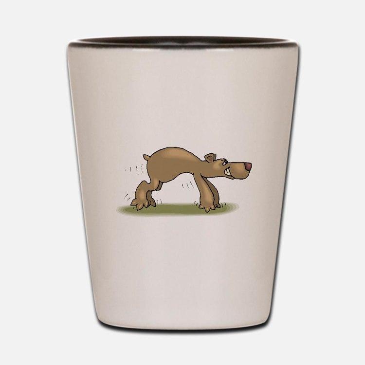 Bear Tiptoeing Shot Glass