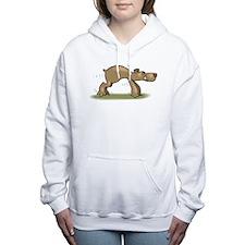 Bear Tiptoeing Women's Hooded Sweatshirt