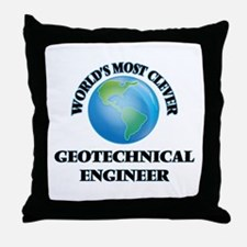 World's Most Clever Geotechnical Engi Throw Pillow