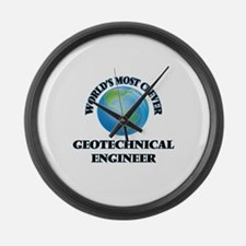 World's Most Clever Geotechnical Large Wall Clock