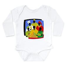 Funny Kwanzaa Long Sleeve Infant Bodysuit