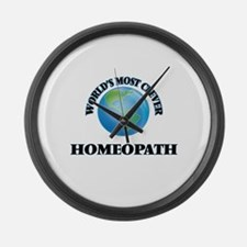 World's Most Clever Homeopath Large Wall Clock