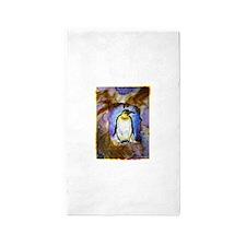Penguin! Wildlife art! Area Rug