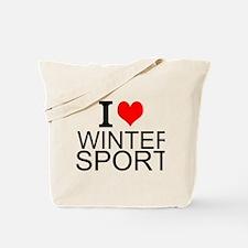 I Love Winter Sports Tote Bag