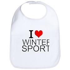 I Love Winter Sports Bib
