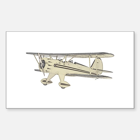 Waco Biplane Sticker (Rectangle)