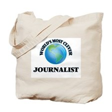World's Most Clever Journalist Tote Bag