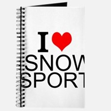 I Love Snow Sports Journal