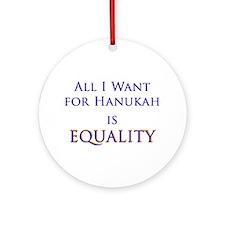Equality Hanukah Ornament (Round)