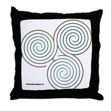 Three Realms Labyrinth Throw Pillow