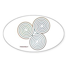 Three Realms Labyrinth Oval Decal