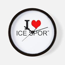 I Love Ice Sports Wall Clock